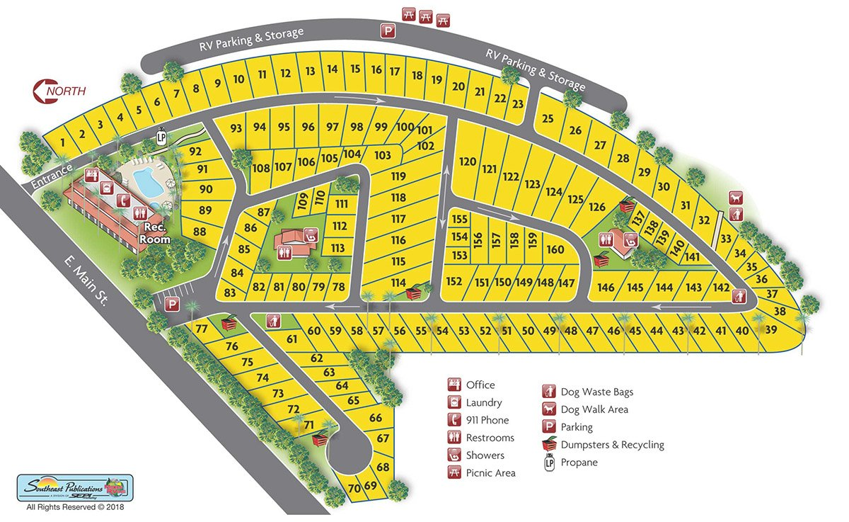 Vacationer RV Park Map