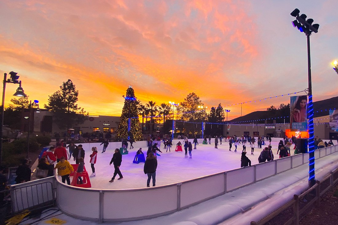 viejas ice skating is close to the rv park